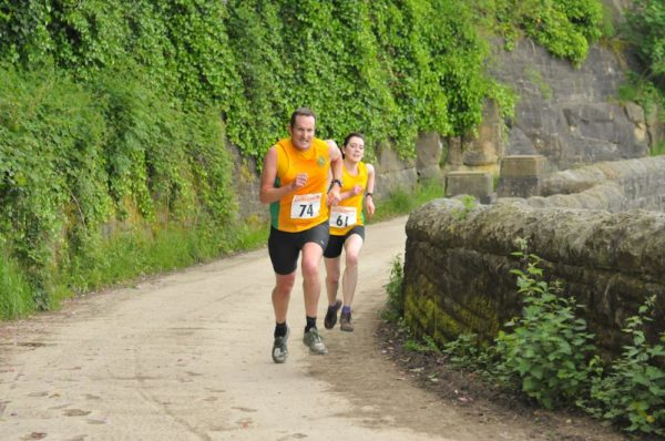 Phil Howson and Lizzy Scott put the hammer down towards the finish line.