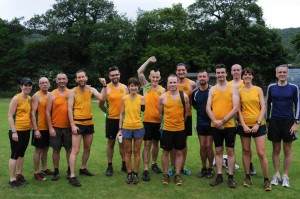 A good turnout of Steel City Striders at the Grindleford fell race.