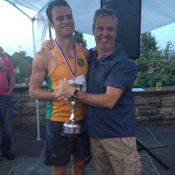 Ben Jones with his trophy from Grenochase 2014