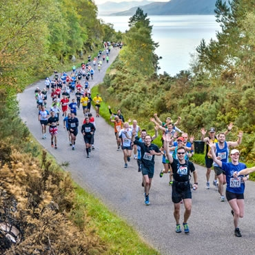 The beautiful Loch Ness Marathon