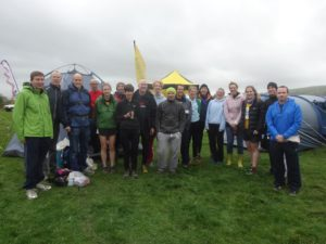The Steel City Cutlers, Vulcans and Furnaces before the first leg of the British Fell and Hill Relay Championships.
