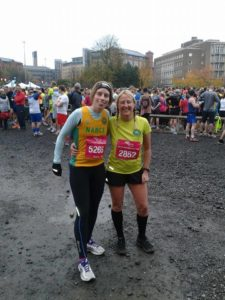 Dawn and Nancy at the Leeds Abbey Dash 2014