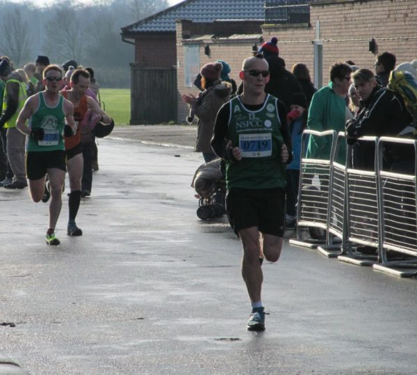 Richard coming into finish his 13th HM