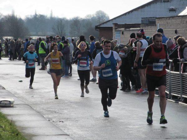 Carol Beattie on the finish straight