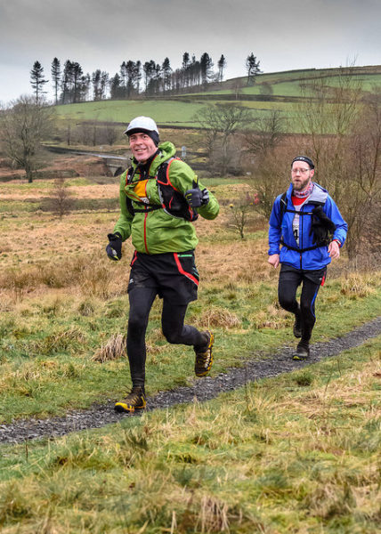 Simon Bayliss leading the Striders home. This was his longest ever race! Photo from Mossie Net