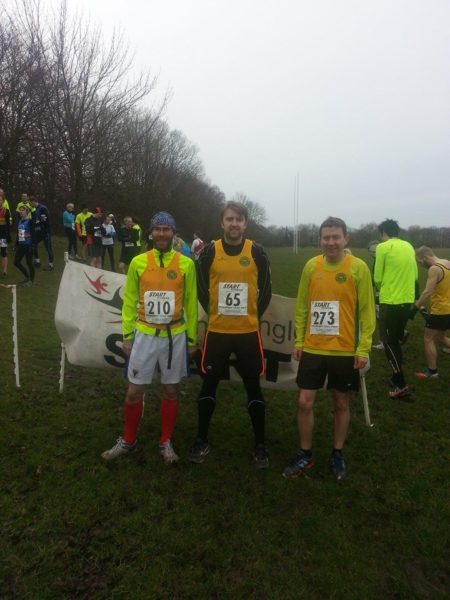 Peter Macqueen, Steve Clarke and John Rawlinson at the Stockport Trail HM
