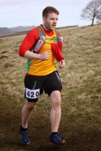 Gavin Pumford, Steel City Strider, running on the Grindleford Gallop course.