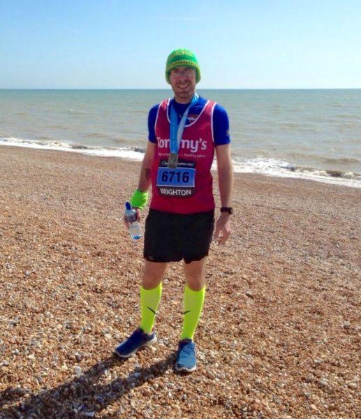 Peter Macqueen after the Brighton Marathon