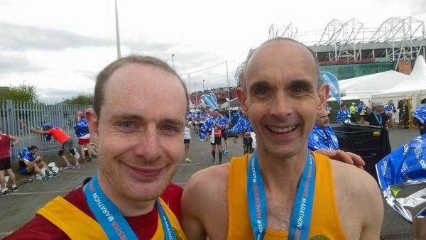 Mark and Sam Manchester Marathon