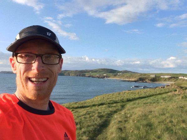 Enjoying an evening run on the Anglesey Coastal Path