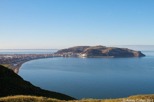Llandudno with the Great Orme in the distance