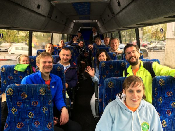 The inaugural Striders bus to the North Lincs HM 2015