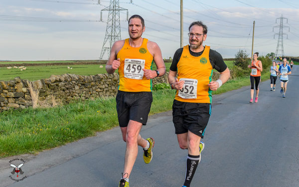 Richard Clamp and Roger Watson in total synchronisation at Oxspring 2015