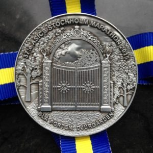 A whopping finishers medal