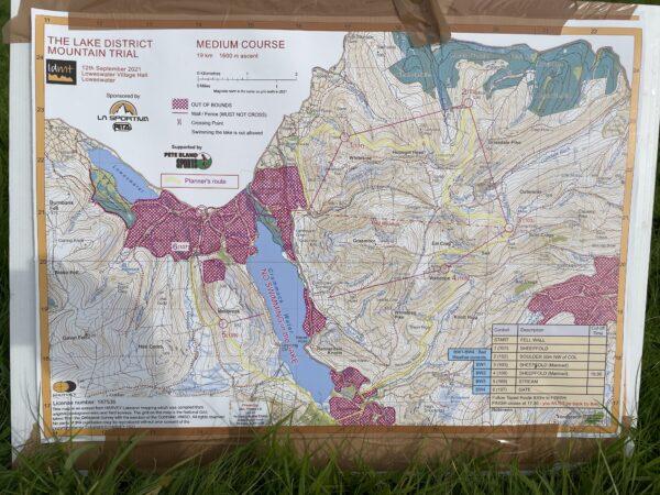Lake District Mountain Trial 2021 map