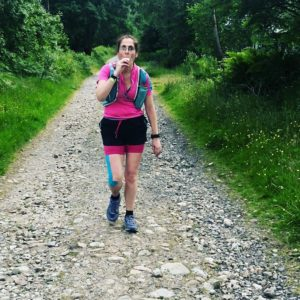 Nicole Brown running the West Highland Way Race 2018