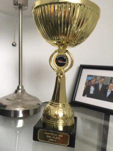 Conor O'Boyle's trophy