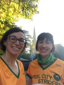 Caroline Brash and Kate Scott at Clumber Oct 2018